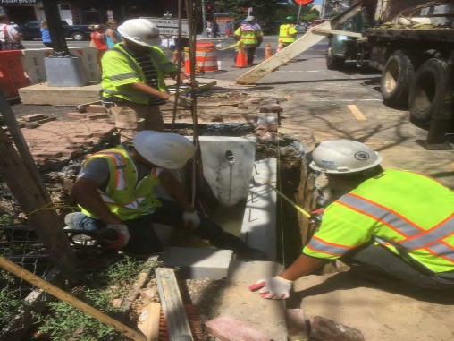 Installation of the Double Catch Basin on SE Corner of P Street