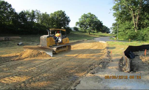 Grading Temporary Ramp C, Between I-295 SB and I-295NB Gore.