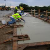 Sidewalk Concrete, South Bridge.