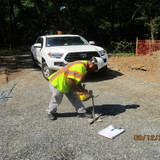 Aggregate Compaction Testing along the Pedestrian Connection Path, NPS Property.