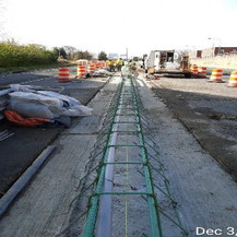 Median Barrier Rebar Installation at East Approach.