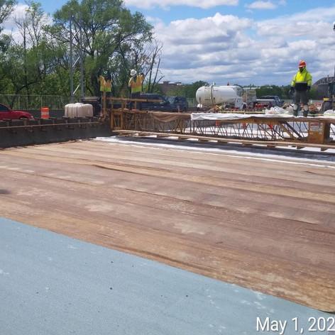 Curing LMC Overlay, North Bridge.
