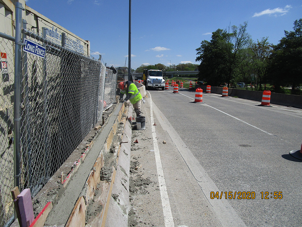 South Bridge Median Barrier Repair