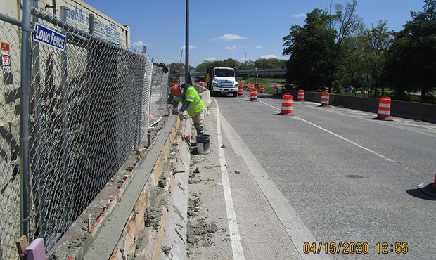 South Bridge Median Barrier Repair