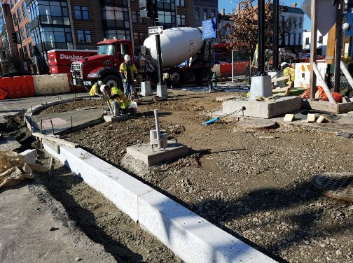 ADA Ramp placement at the NE Corner of 14th and Q Street