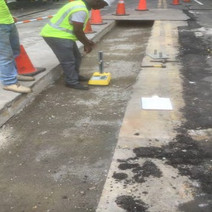 Density Testing of Aggregate Base Material on the Westside of N Street