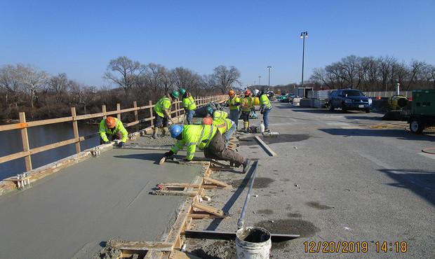 Sidewalk Concrete  Placement