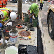 Testing pervious concrete, prior to placement