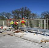 Resetting Existing Railing, North Bridge
