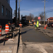 Installing bus pad at Southbound near Intersection of MLK and Milwaukee Pl SE