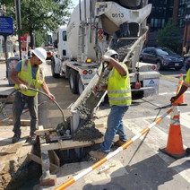 OMNI Pouring traffic pole foundation at 14th St. NW & U St.