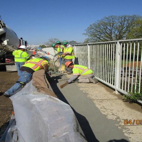 Placing Sidewalk Concrete