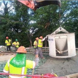 Concrete Placement for AFW Bridge # 1017 Abutment- B Approach and Moment Slab over I-295 SB