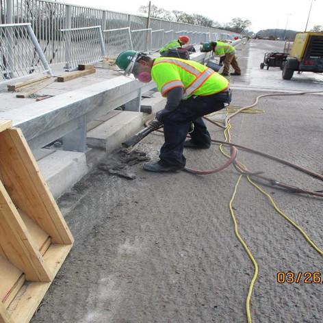 Detailing Deck Milling, North Bridge.