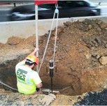 DCP testing for proposed jerk foundation for pier approximately from Sta. 101+ 70 to Sta. 102+20.