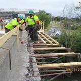 Installing Formwork, North Bridge Sidewalk