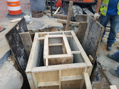 Formed and Poured Cast in place Catch Basin (CB-15)