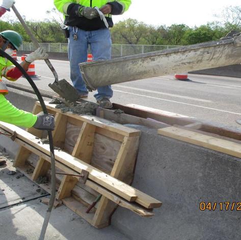 Median Barrier Repair, South Bridge.