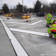 Pavement Marking at Gore Areas, East Side.