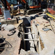 """Installation of 15"""" RCP Connection pipe at SE corner of 14th and P Street"""
