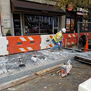 Placement of Granite Cobble Stone between N Street and Rhode Island on the Westside