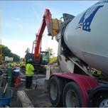 Concrete pour on AFW Bridge # 1016(I-295NB) Abutment-A over S. Capitol St. SE