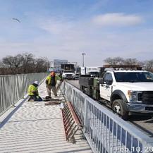 Punchlist Work on Bridge Sidewalk.