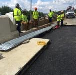 Guardrail transition on SB 295 bridge 1017 Abutment
