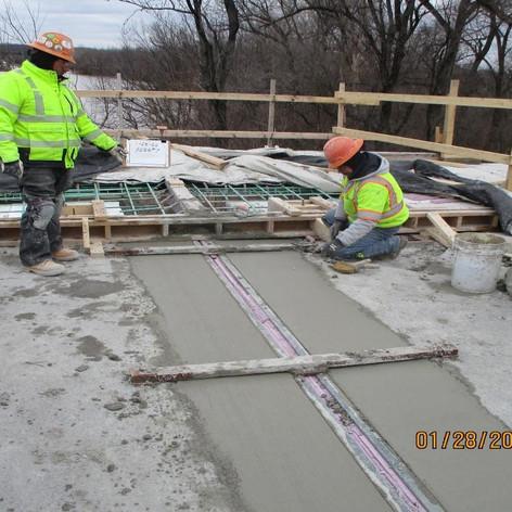 Placing Lightweight Concrete for Bridge