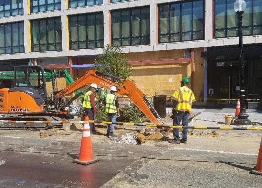 Wide view of excavation by Omni at 1357 R St.
