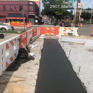 Placing PCC sidewalk located from LEBAUM towards Mellon SB RT and MLK