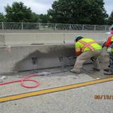 Type 2 Concrete Repair Operation, Median Barrier