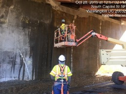 Power washing bridge 1016 abutment B