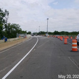 Preparing for Phase 3 Traffic Switch, West Side of North Bridge.