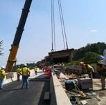 Crane lifting deck 2 on AFW Bridge # 1017 unto S. Capitol St. SWB