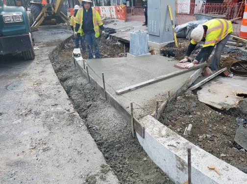 Installation of ADA Ramp at the SW corner of 14th and P Street