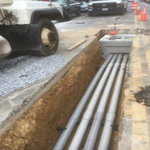 Installation of PVC Conduit on the Westside of N Street