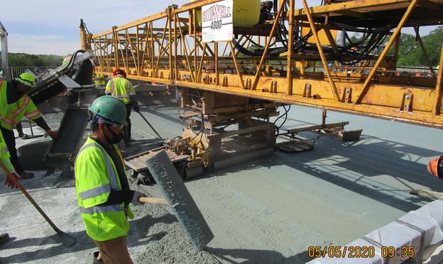 Latex Modified Overlay along North Bridge