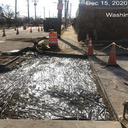 Placing vapor barrier for the preparation of restoration at 3rd gate of Homeland Security (Double Grate Inlet) (Sta: 72+50 RT SB)