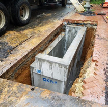 Installing the Double Catch Basin at NW corner of 14th and Corcoran Street