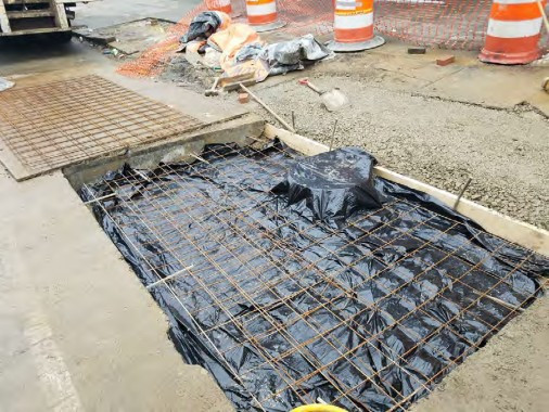 Installation of PCC Base at 14th and T Street