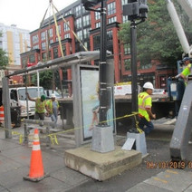 FMCC continued removing the bus shelters on 14th Street NW from N Street to W Street NW