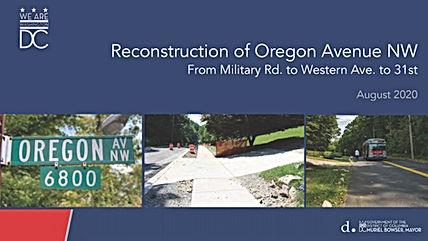 Oregon Ave Phase 2 Kickoff Presentation