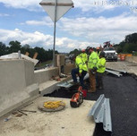 Coupling approach guardrail on Bridge 1017 abutment