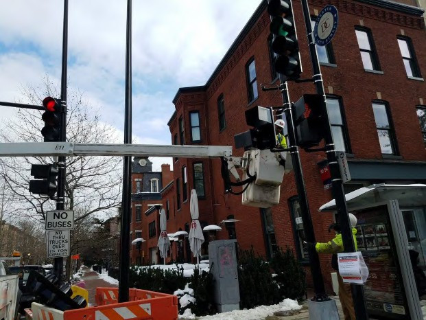Installation of Pedestrian Signal Head at the NE Corner of 14th and Q Street