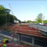 Formwork completion for AFW Pier Cap and Beam Seats Bridge #1016 over I-295NB
