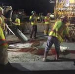 Placing latex concrete bridge 1017, right of the baseline