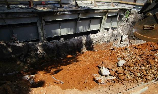 Backwall Demo at Ramp C, South Bridge.