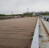 Burlap for LMC Overlay Curing, North Bridge.