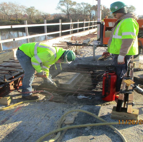 Existing Scuppers Removal, North Bridge.